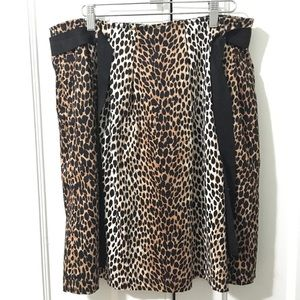 Classic Leopard Skirt size 12, Knee length